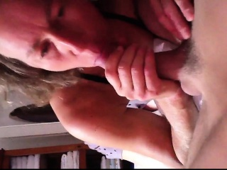 Hot matured gives handjob and blowjob
