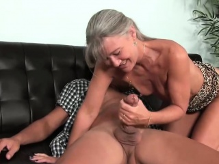 Ravishing Stepmom Gigantic Handjob