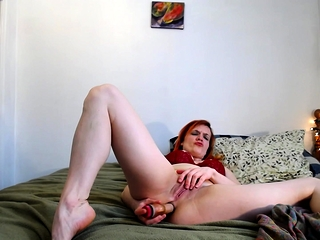 Cute and seet redhead solo masturbation