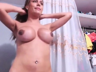 Gorgeous Hung Shemale Cums Super Hard