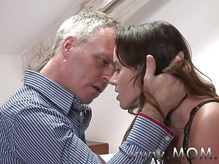 MOM Brunette MILF pleases her person