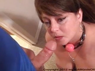 Big Tit Anal Mom Gets Ball Gagged & Butt Fucked