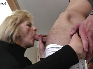 Unpredictable intensify full-grown mom and wife fucking her toy boy