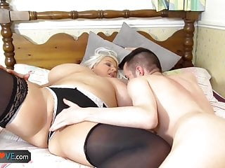 Agedlove young guy banged grown-up chubby