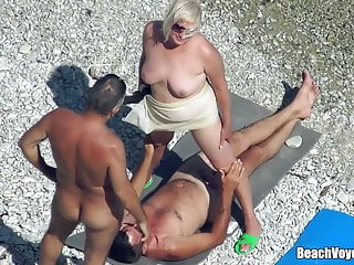 Mature Nudist Granny Milf Fucked Within reach The Run aground with voyeurs