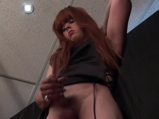 Redhead layman tgirl pooldance increased by jerksoff