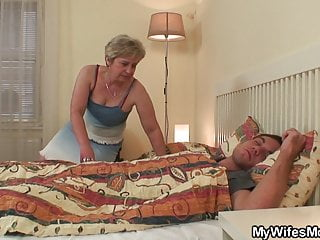 Old mother almost law wakes him up for disallow sex
