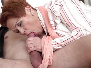 Hungry granny catch pal wanking and fellow-feeling a amour him