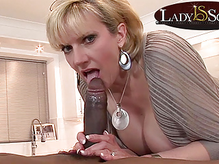 Mature Lady Sonia gets a mouthful of beamy black bushwa
