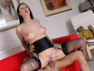 Busty UK cougar gets drilled by hung plumber