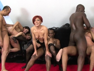 Bad Sluts Enjoy Interracial Anal Orgy