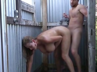 unmitigatedly busty cougar milf seduces and fucks neighbor after work