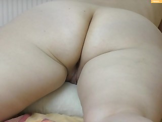 Wifes beautiful butt and asshole massage twine