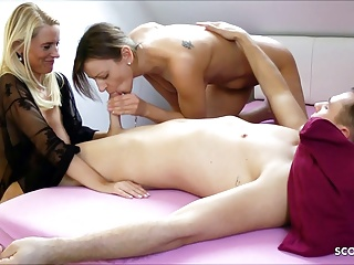 Daughter caught Stepmom with her BF added to Joins For A Threesome, German